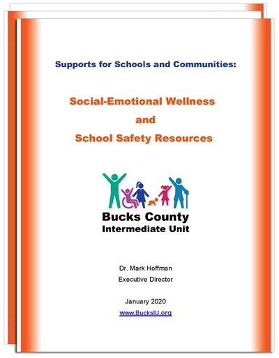 Listing of Bucks IU services for social emotional wellness and school safety