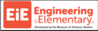 Engineering is Elementary logo with text and EIE in an orange box
