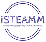 iSTEAMM Acronym in a circle with the words Science, Technology, Enigineering, Arts, Math, and Manufacturing.